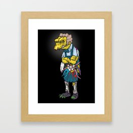 Always trust your gut feeling Framed Art Print