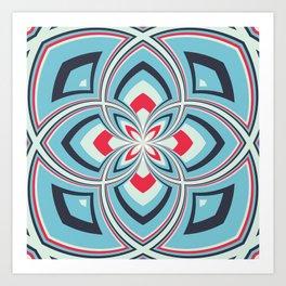 Spiral Rose Pattern B 3/4 Art Print