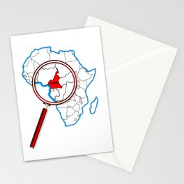 Cameroon Under A Magnifying Glass Stationery Cards