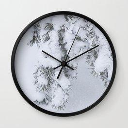 Winter's Pine 1 Wall Clock