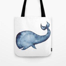 Nautical Whale Tote Bag