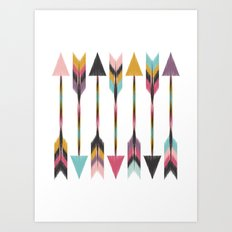 Bohemian Arrows Art Print