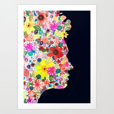 my head is your garden Art Print