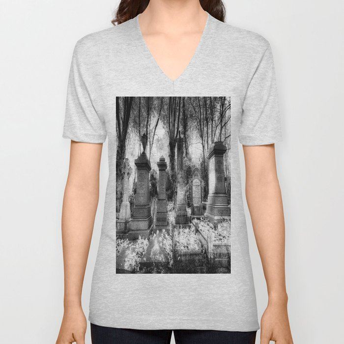 Highgate Cemetery London Unisex V-Neck