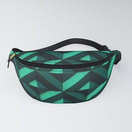 Concrete wall - Emerald green Fanny Pack