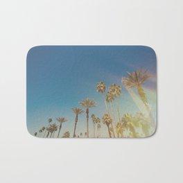 Palm Springs,California Palm Trees Sunburst Bath Mat