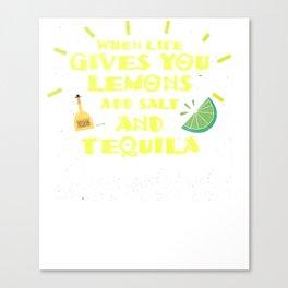 Lemons Gluten Free Celiac Disease Funny Distressed T Shirt Canvas Print