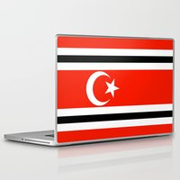 indonesia Laptop & iPad Skins featuring aceh indonesia ethnic flag by tony tudor