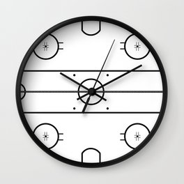 Ice Hockey Rink Wall Clock