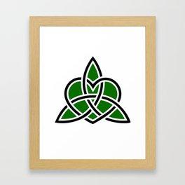 Celtic Valknut Trinity Knot With Interwoven Heart Framed Art Print