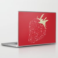 strawberry Laptop & iPad Skins featuring Strawberry by Julia Kisselmann