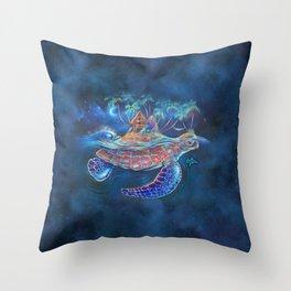 Turtle Dream Island Throw Pillow