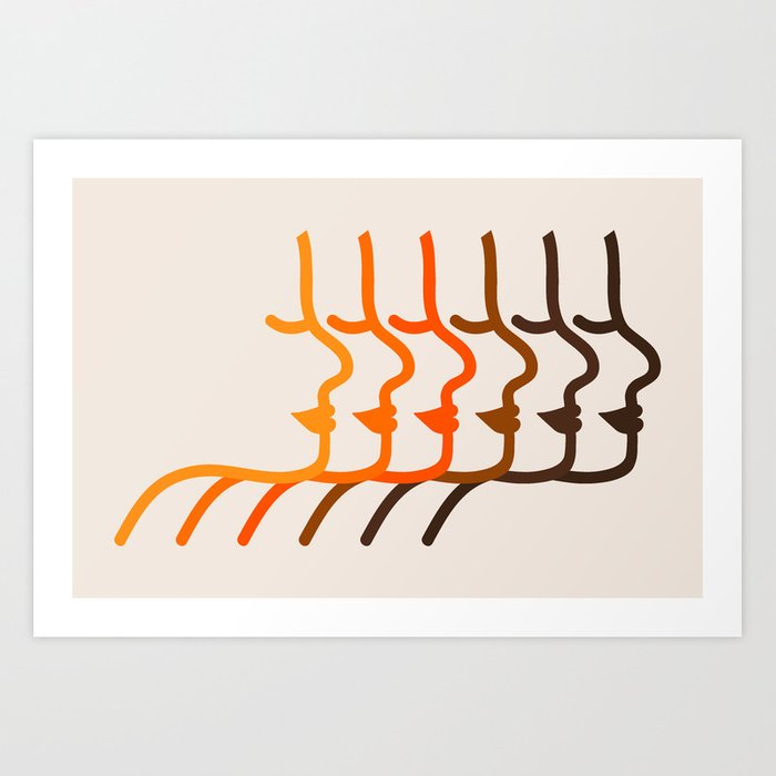 Golden Silhouettes Art Print