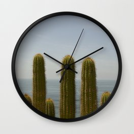 Sea Cactus Wall Clock