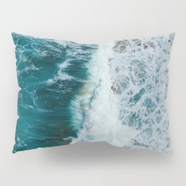 crashing waves- beach Pillow Sham
