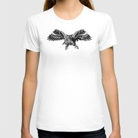 falcon T-shirts featuring Ornate Falcon by BIOWORKZ