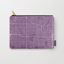 Omaha Map, USA - Purple Carry-All Pouch