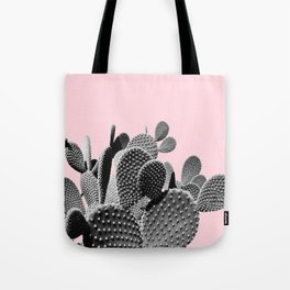 Bunny Ears Cactus on Pastel Pink #cactuslove #tropicalart Tote Bag
