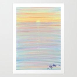 deep colour sunset Art Print