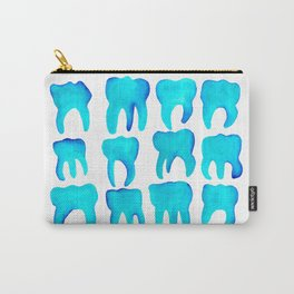 Turquoise Molars - Horizontal Carry-All Pouch