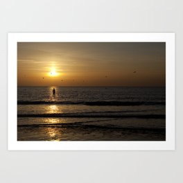 statue of light Art Print
