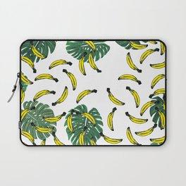 Watercolor Swiss Cheese Plant and Bananas Laptop Sleeve