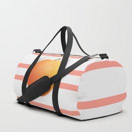 Ruston Peach Rugby Stripe Duffle Bag