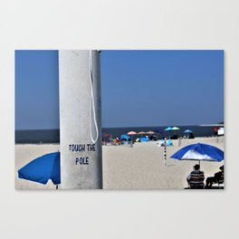 Touch  the Pole Canvas Print
