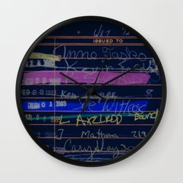 Library Card 3503 Exploring the Moon Negative Wall Clock