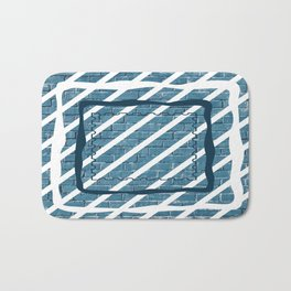striped stamp Bath Mat