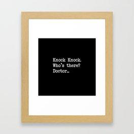 Knock-Knock 3 Framed Art Print