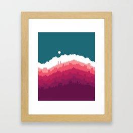 Sunlight Over the Hill No. 1 Framed Art Print