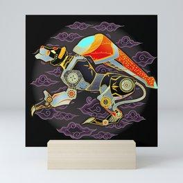 Black Lion Batik Mini Art Print