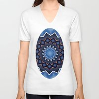 buddha V-neck T-shirts featuring Buddha by Julie Maxwell