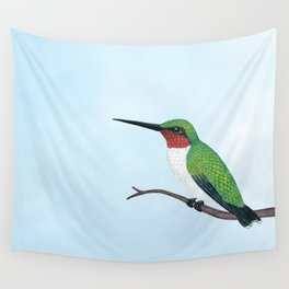 the studious male (ruby-throated hummingbird) Wall Tapestry