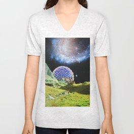 Lunar Outpost 2079 Unisex V-Neck