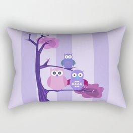 Purple Owls Rectangular Pillow
