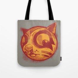 Red cat Rocka Rolla Tote Bag