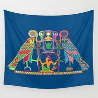 egyptian Wall Tapestries featuring Egyptian Seal by Paco Dozier