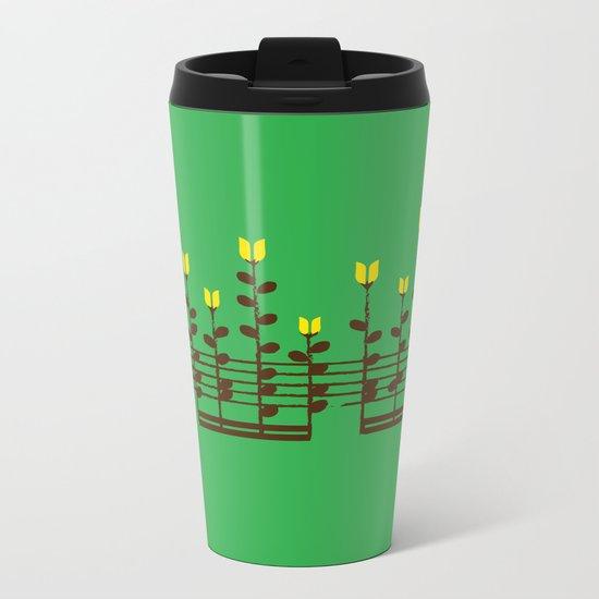 Music notes garden Metal Travel Mug