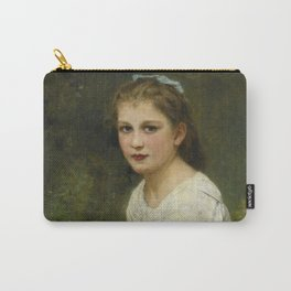 """William-Adolphe Bouguereau """"Young girl with grapes (Jeune fille aux raisins)"""" Carry-All Pouch"""