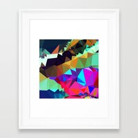 bands Framed Art Prints featuring harlequin bands by Tulipe Studio