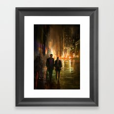 Lights will guide you home Framed Art Print