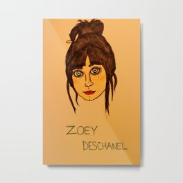 Zoey Deschanel Metal Print