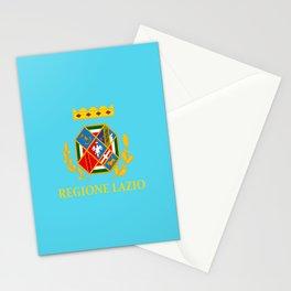 flag of latium or Lazio Stationery Cards