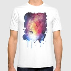 η Zaniah White MEDIUM Mens Fitted Tee