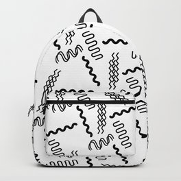 Abstract black white geometrical retro 80's pattern Backpack