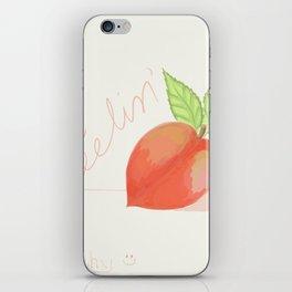 Feeling peachy iPhone Skin