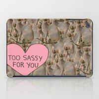 sassy iPad Cases featuring Sassy Cats by Skrinkladado