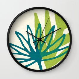 Whimsical Greenery Wall Clock